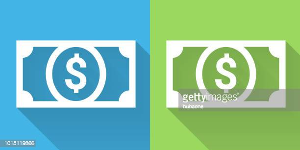 money dollar bill icon - american one dollar bill stock illustrations, clip art, cartoons, & icons