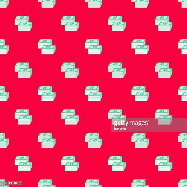 money e commerce seamless pattern - financial technology stock illustrations, clip art, cartoons, & icons