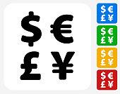 Money Exchange Icon Flat Graphic Design