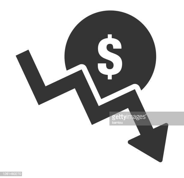 money fall icon - low stock illustrations