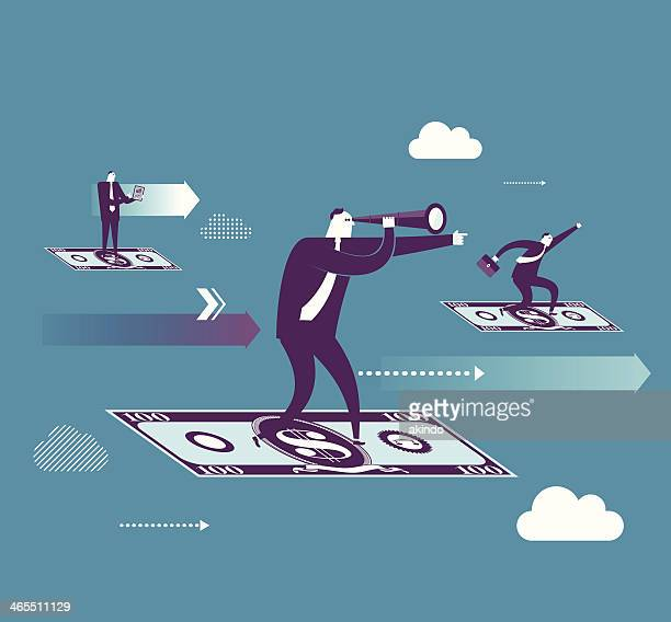 money flying - mid section stock illustrations