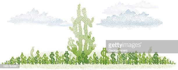 money growth - money tree stock illustrations, clip art, cartoons, & icons