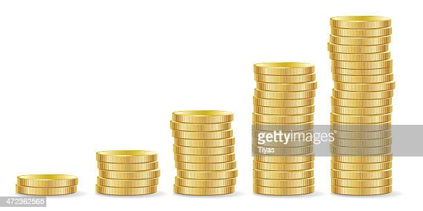 money growth - us paper currency stock illustrations, clip art, cartoons, & icons