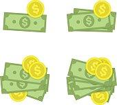Money icon set.