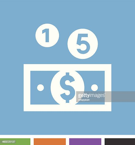 money icon - american one dollar bill stock illustrations, clip art, cartoons, & icons