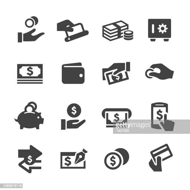 money icons - acme series - paying stock illustrations