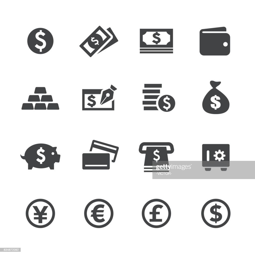 Money Icons - Acme Series : Stock Illustration