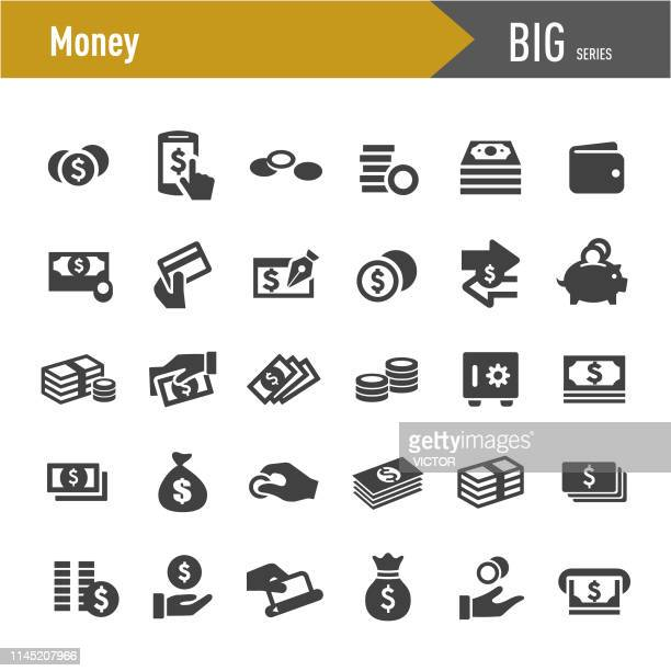 money icons - big series - change stock illustrations