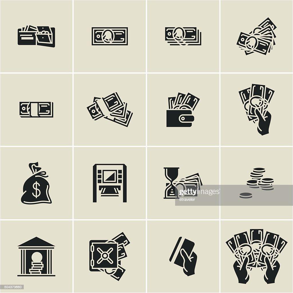 money icons, finance