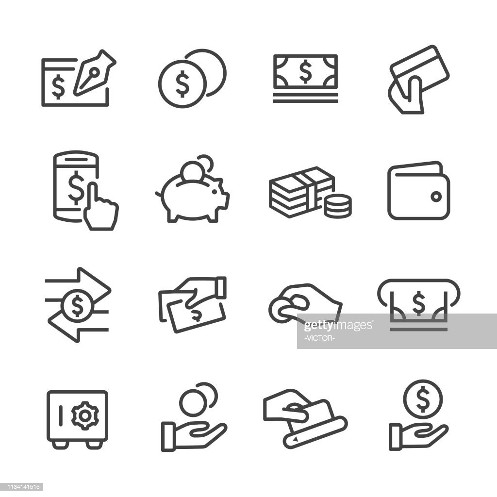 Ícones do dinheiro-linha série : Ilustração