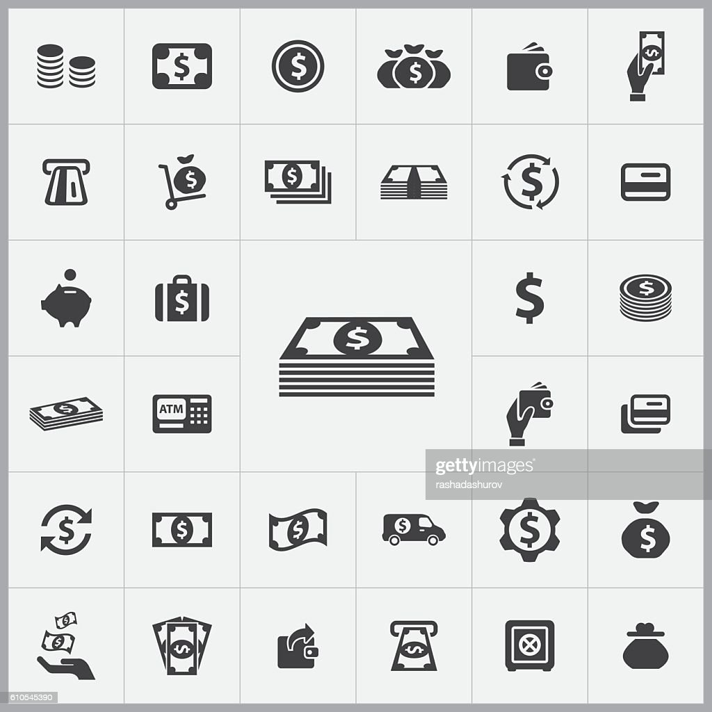 money icons universal set