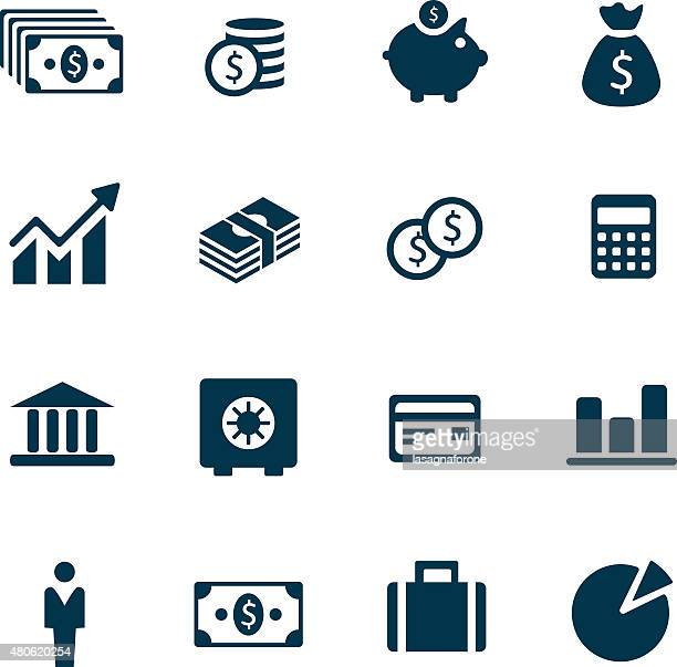money icons - making money stock illustrations