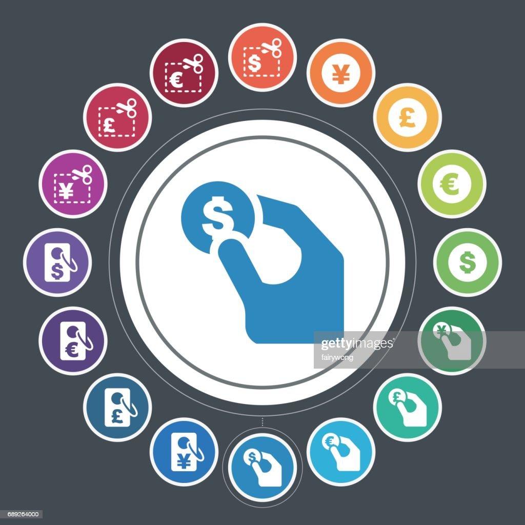 Money icons : Stock Illustration