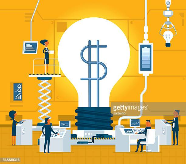 money idea - finance and economy stock illustrations, clip art, cartoons, & icons