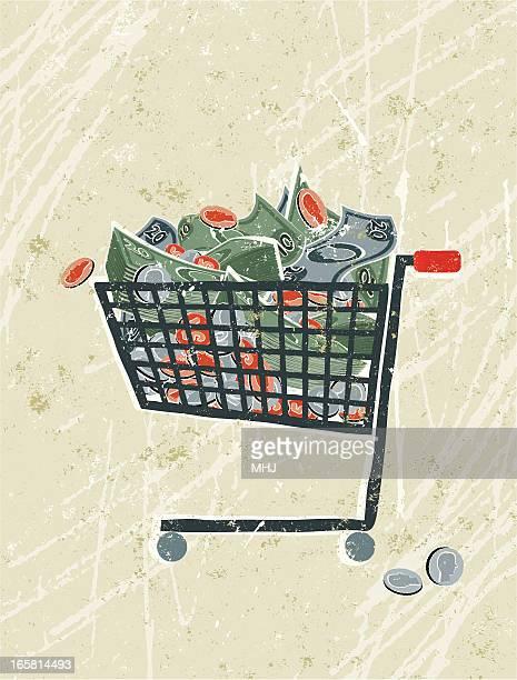 Money in a Shopping Trolley