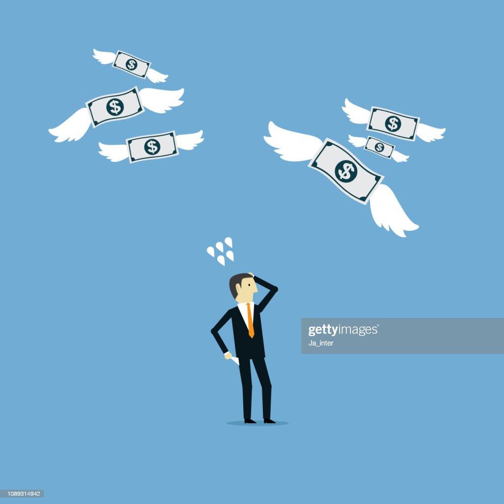 Money lost : stock illustration