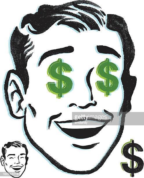 money man - businessman stock illustrations