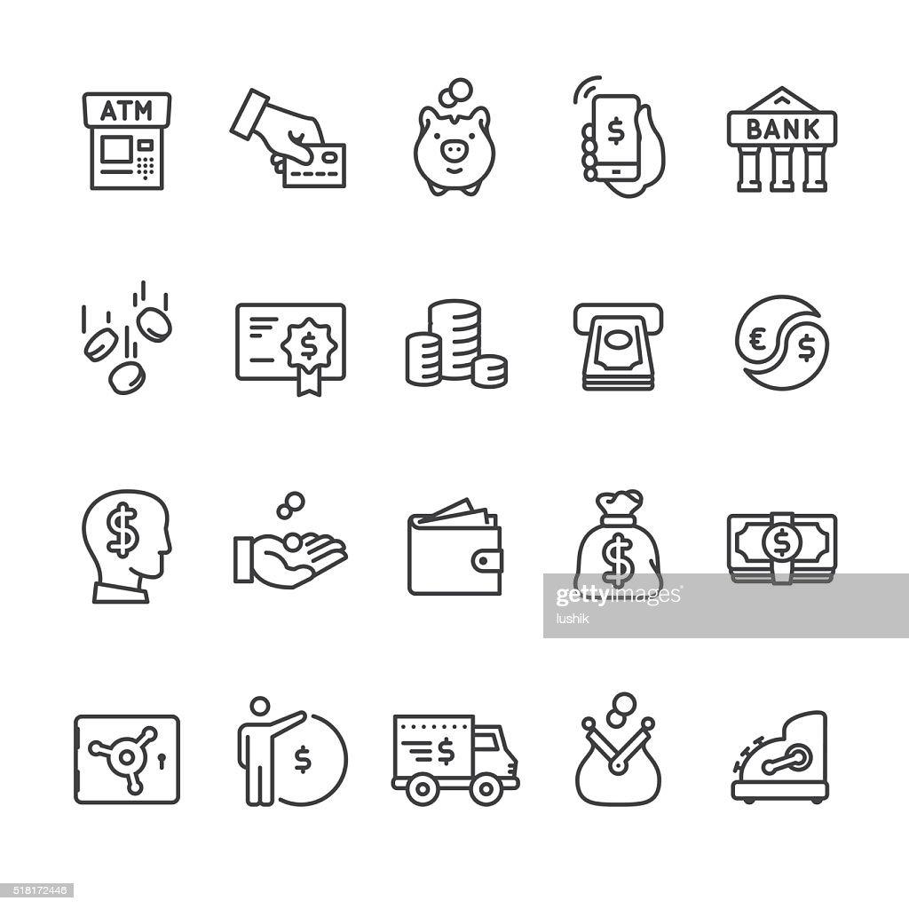 Ícones do vetor &  PAGAMENTO DINHEIRO : Ilustração