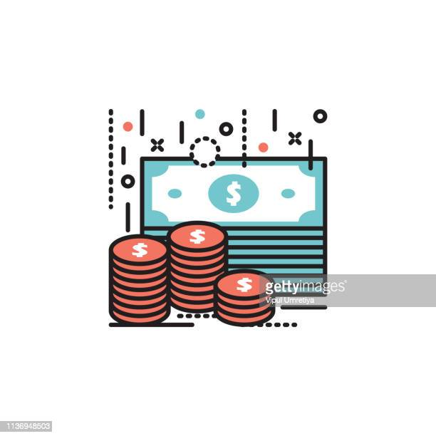 money piles - collection stock illustrations