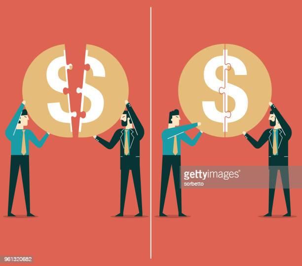 Puzzle de dinero - negocios