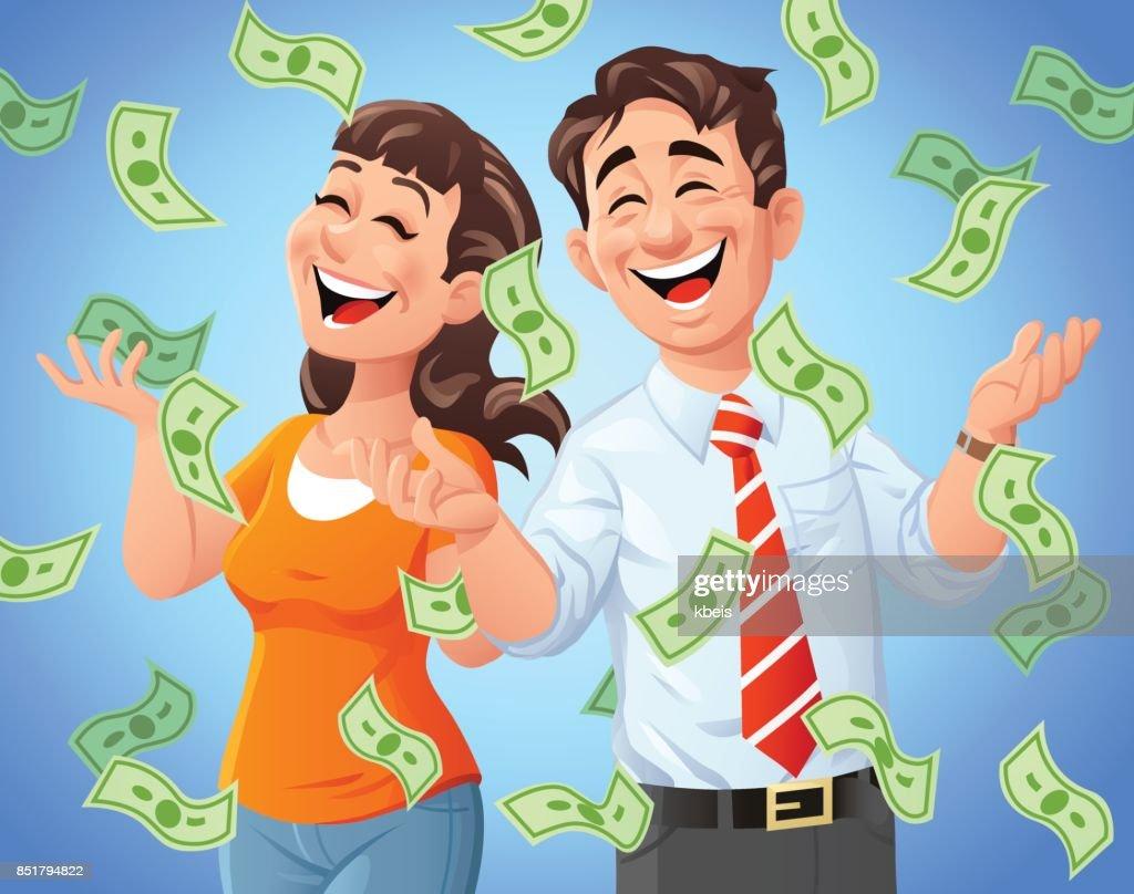 Money Rain : stock illustration