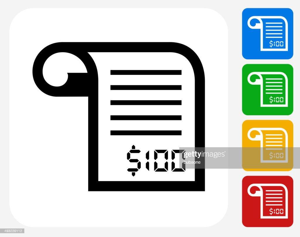 Money Receipt Icon Flat Graphic Design