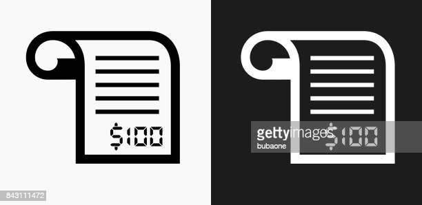 ilustrações, clipart, desenhos animados e ícones de ícone de recebimento de dinheiro em preto e branco vector backgrounds - recibo