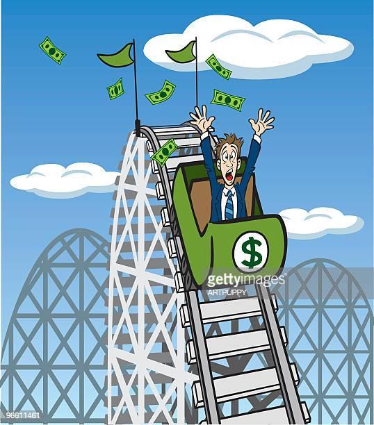 Geld Achterbahn