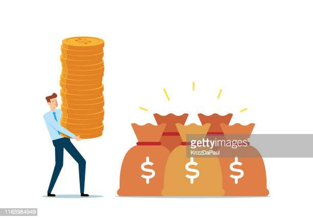 money saving - money bag stock illustrations