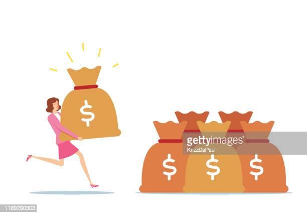 geldsparen - reichtum stock-grafiken, -clipart, -cartoons und -symbole