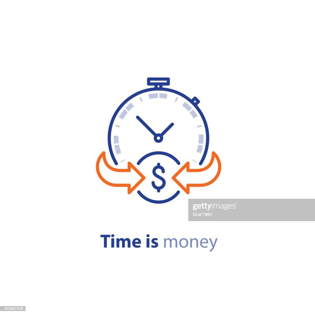 Money savings, investment plan, stock market, finance services, line icon