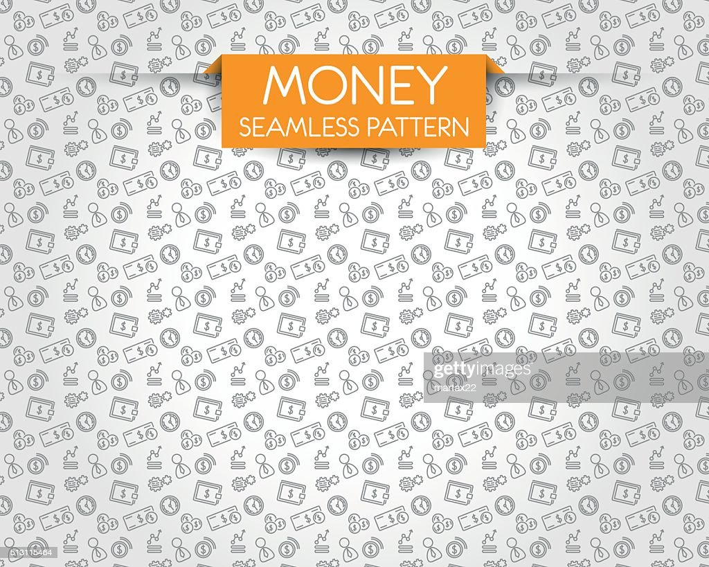 money seamless pattern