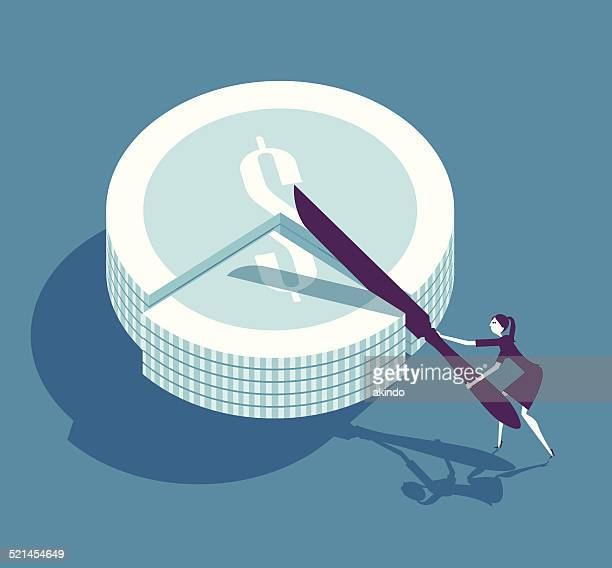money slice - serving size stock illustrations, clip art, cartoons, & icons