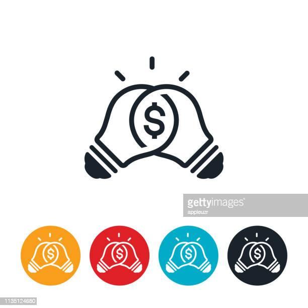 money solution icon - mixing stock illustrations