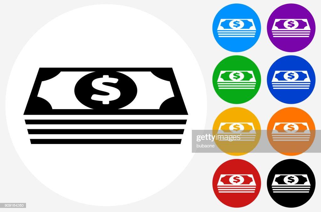 Money stack of US Dollars.