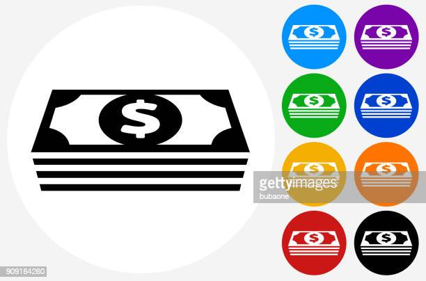 money stack of us dollars. - dollar sign stock illustrations, clip art, cartoons, & icons