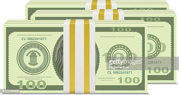 money stack - cash flow stock illustrations, clip art, cartoons, & icons