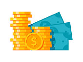 Money stylish illustration