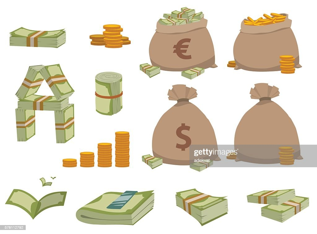 Money symbols vector set.