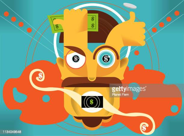 ilustraciones, imágenes clip art, dibujos animados e iconos de stock de charla del dinero - fajo de billetes