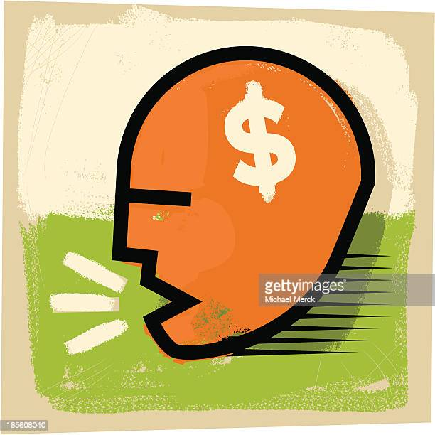money talker - obsessive stock illustrations, clip art, cartoons, & icons