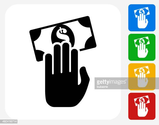 Money Transaction Icon Flat Graphic Design