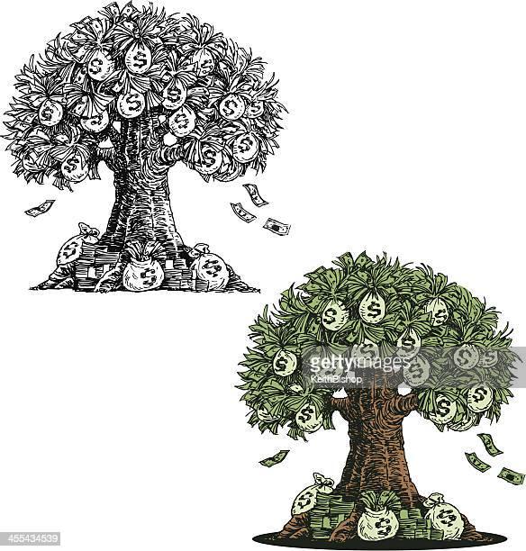 money tree - business concept - money tree stock illustrations, clip art, cartoons, & icons