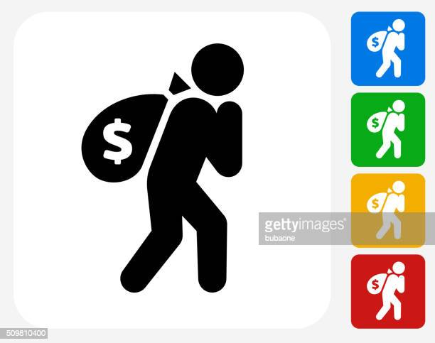 Moneybags Icon Flat Graphic Design