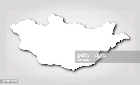 Mongolia Map Vector Art Getty Images - Mongolia map vector