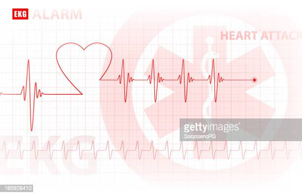 ecg - monitoring of the heart / medical background, vector - listening to heartbeat stock illustrations, clip art, cartoons, & icons