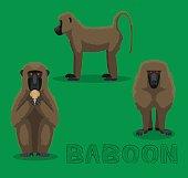 Monkey Baboon Cartoon Vector Illustration