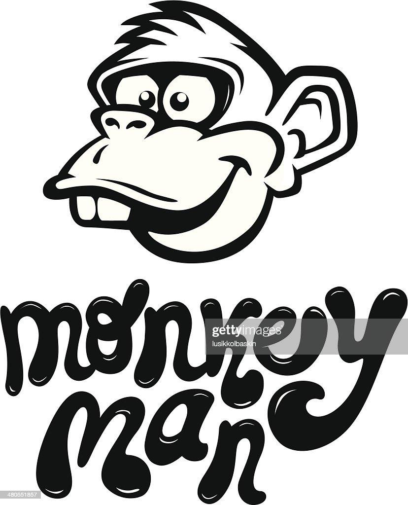 Mono de historieta cara : Arte vectorial