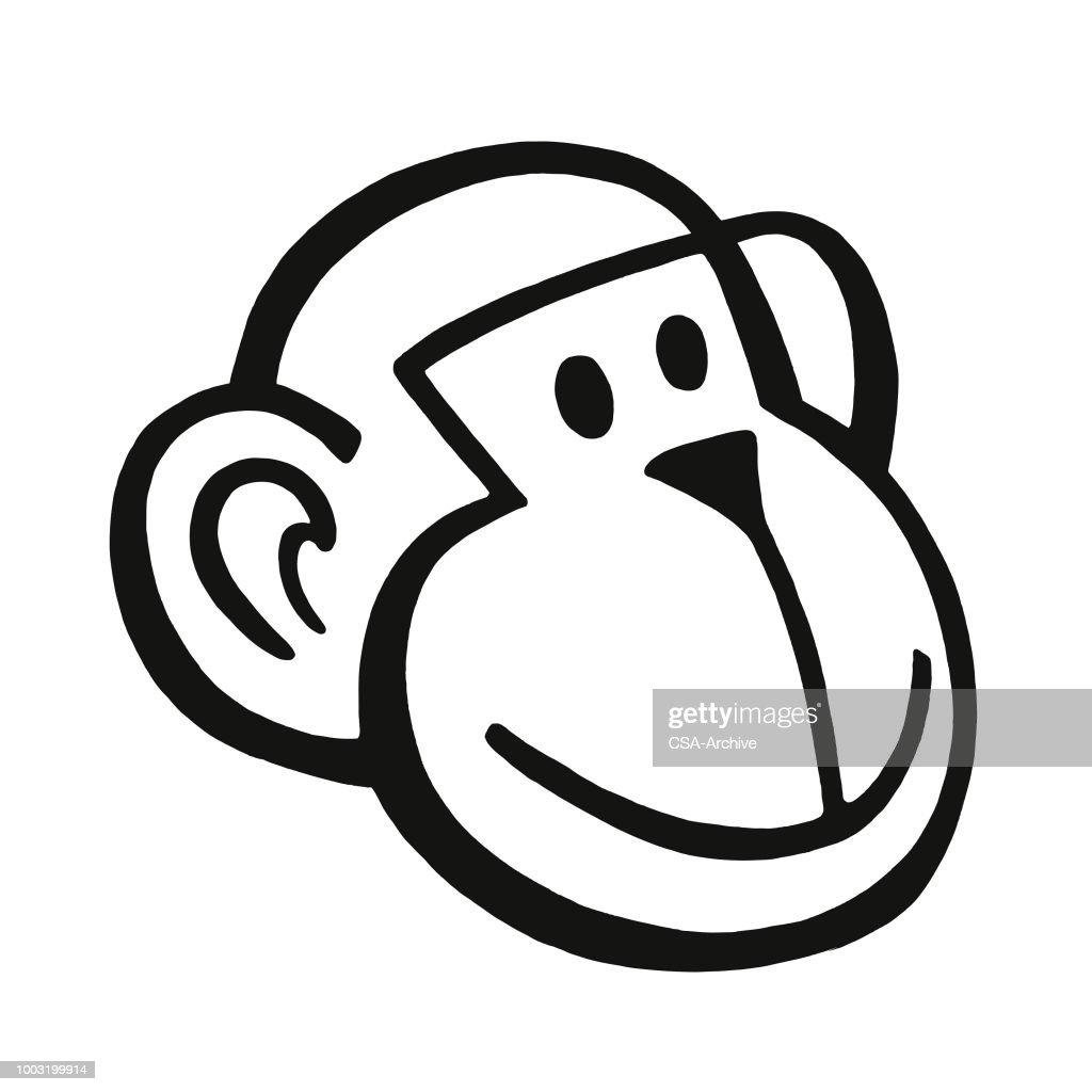 Monkey Face : stock illustration