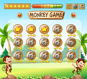 Monkey game jungle template